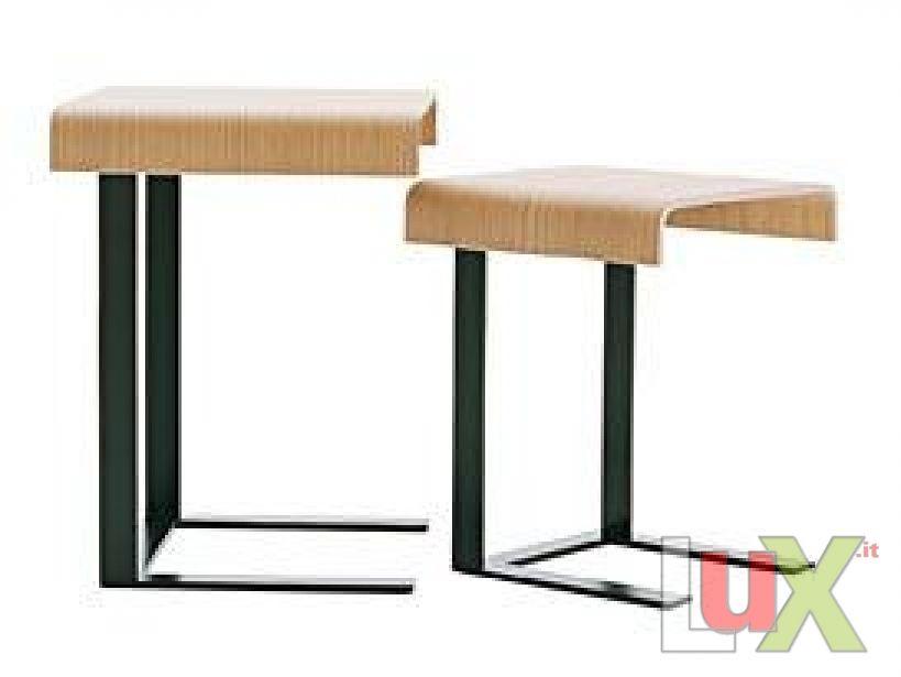 Tavolino tavolo basso modello eileen rovere grigio for Tavolo rovere grigio