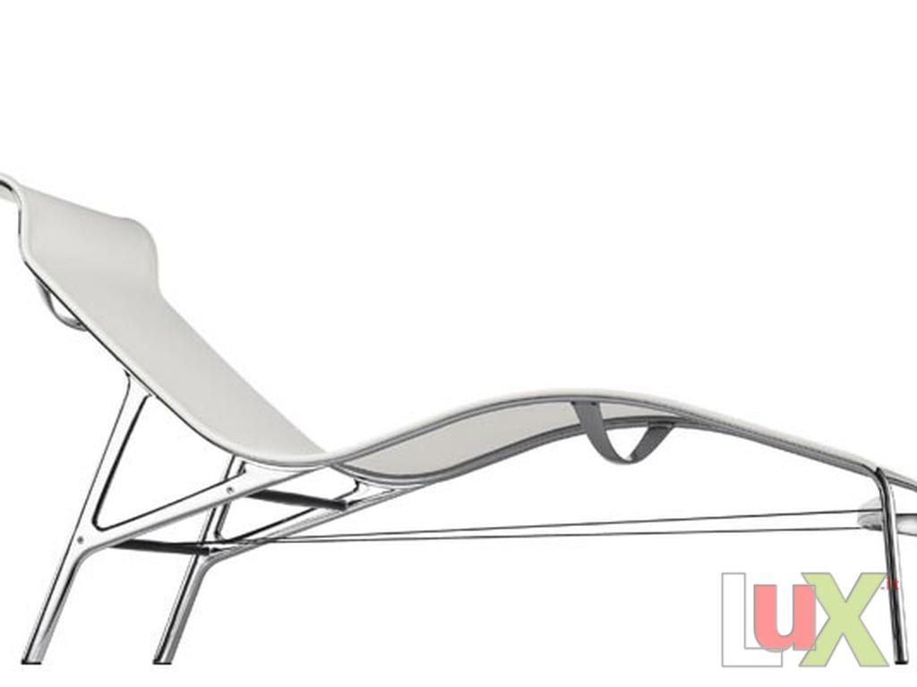 Chaise longue model longframe black for Black chaise longue